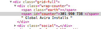 Avira HTML Counter