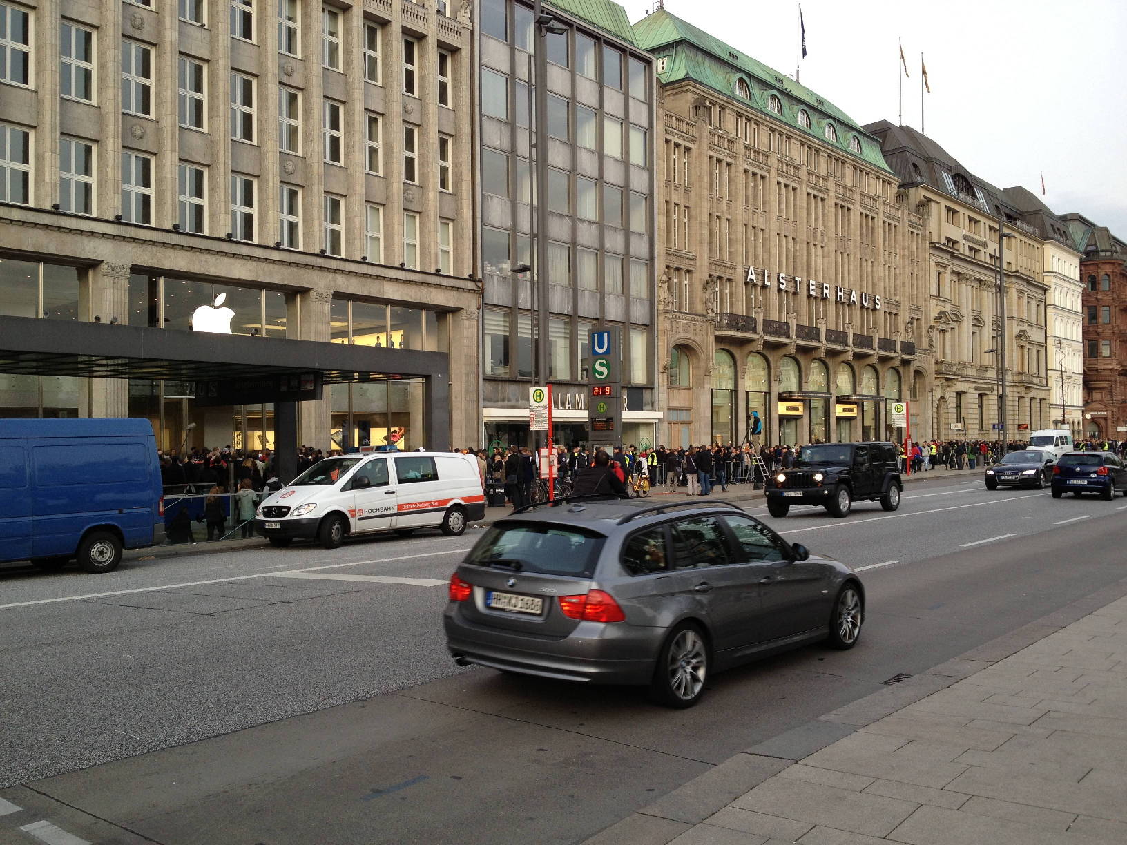 Bilder vom Apple Store, Hamburg